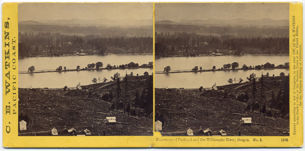 Watkins #1202 - Panorama of Portland and the Willamette River, Oregon #2