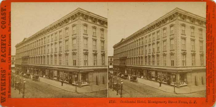 Watkins #1735 - Occidental Hotel, Montgomery Street Front, S.F.