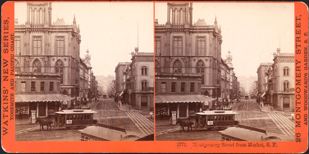Watkins #1771 - Market Street, from New Montgomery and Market Streets, San Francisco.