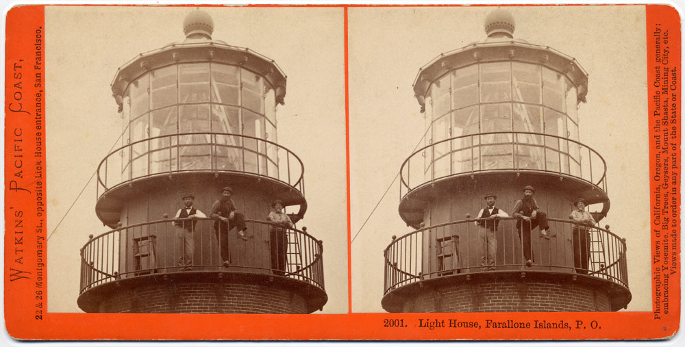 Watkins #2001 - Light House, Farallone Islands, Pacific Ocean