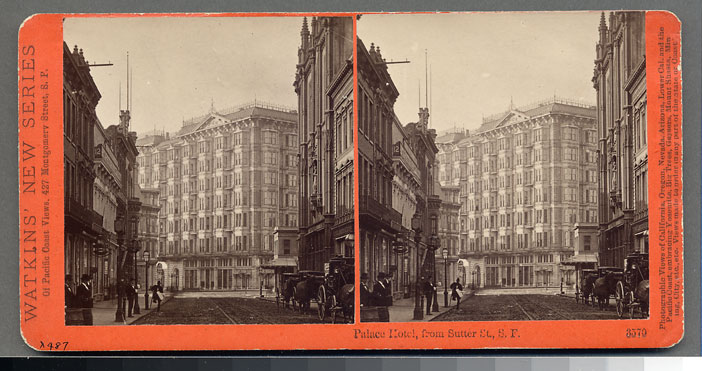 Watkins #3570 - The Palace Hotel from Sutter St., San Francisco.