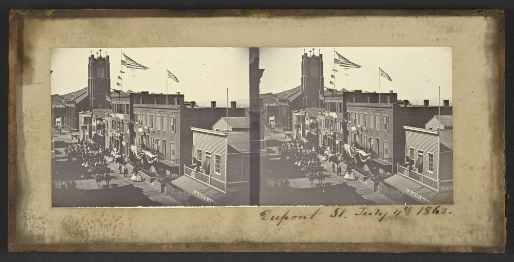 Watkins Unnumbered View - Dupont St. July 4th, 1862