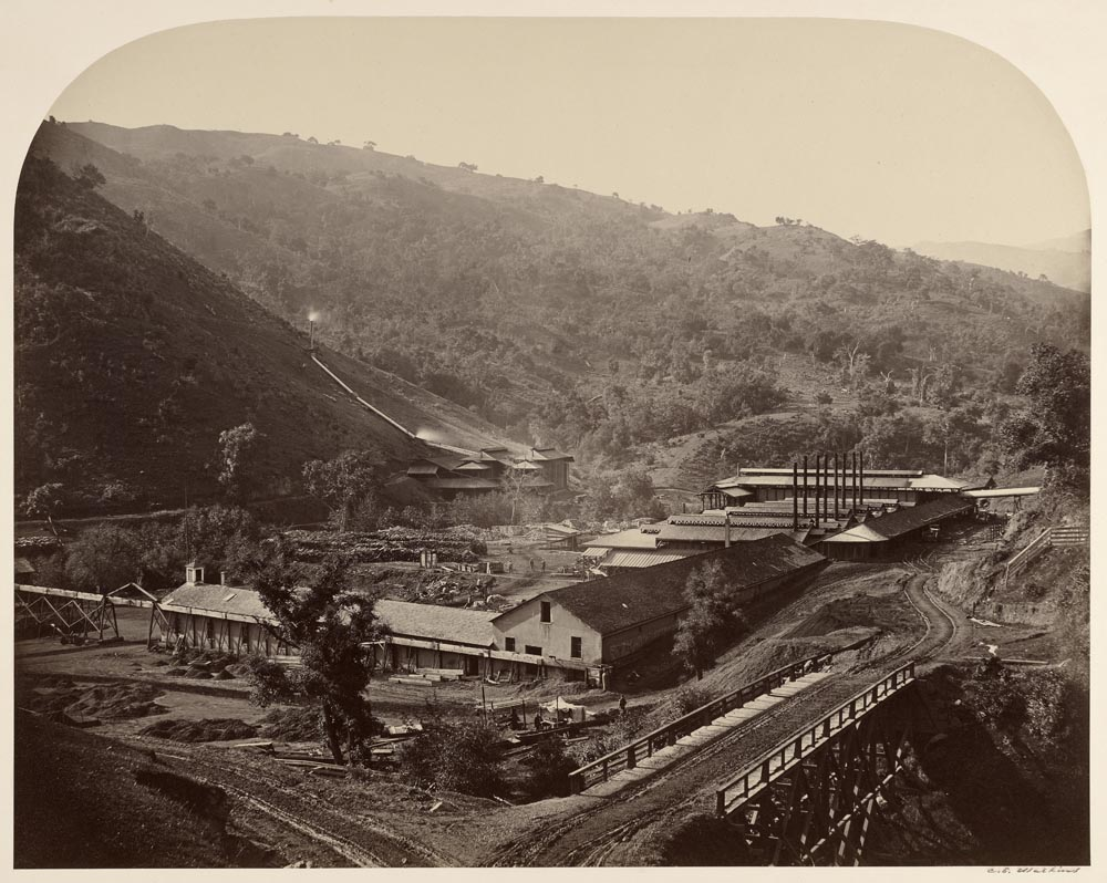 Watkins #130 - General View of the Smelting Works, New Almaden