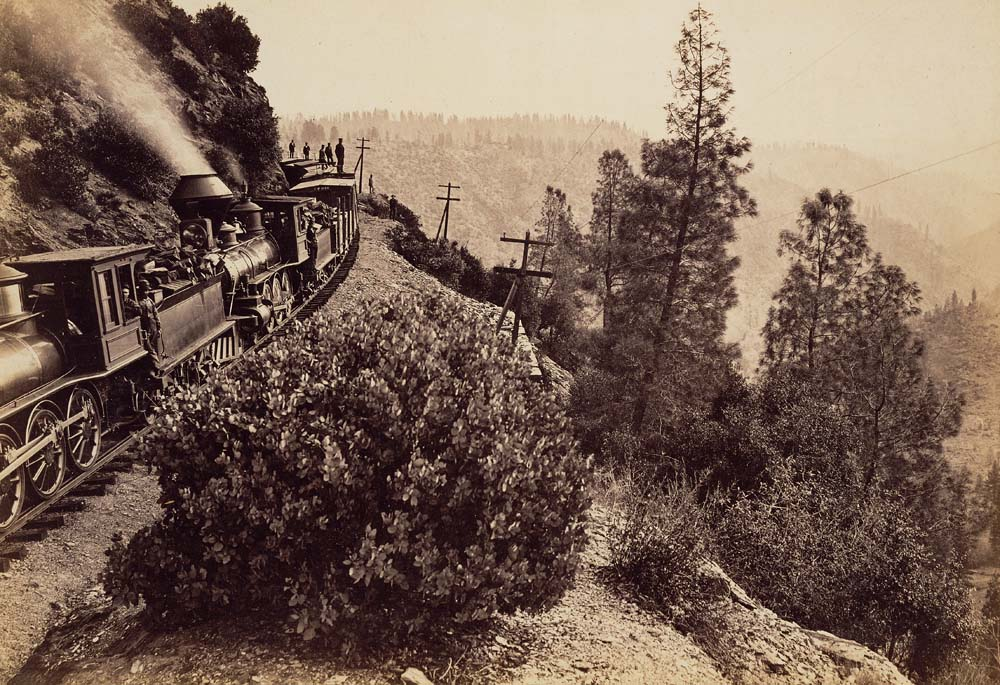 Watkins #1112 - Rounding Cape Horn, Central Pacifc Railroad, Placer County