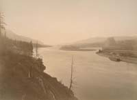 S-55 - View on the Columbia, Castle Rock and Lower Cascades Landing, Washington Territory