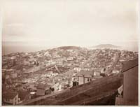 623 - View from Russian Hill, Showing Telegraph Hill and Goat Island, San Francisco