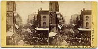 584 - Montgomery St. from Market St, 4th July, 1864, San Francisco