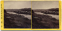 1214 - Panorama of Oregon City and the Willamette Falls #1