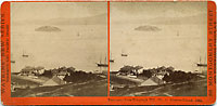 1341 - Panorama of San Francisco from Telegraph Hill (No. 4). Alcatraz Island.
