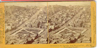 1356 - Panorama of San Francisco from Telegraph Hill (No. 19). Washington Square.