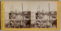 1884 - View down the Wharf. Independence. Mare Island