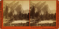 3066 - The Three Brothers, 4480 feet. Yosemite Valley, Mariposa Co., Cal.