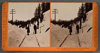 E36 - Clearing the Track, Winter of 1884-85, Columbia River, Oregon
